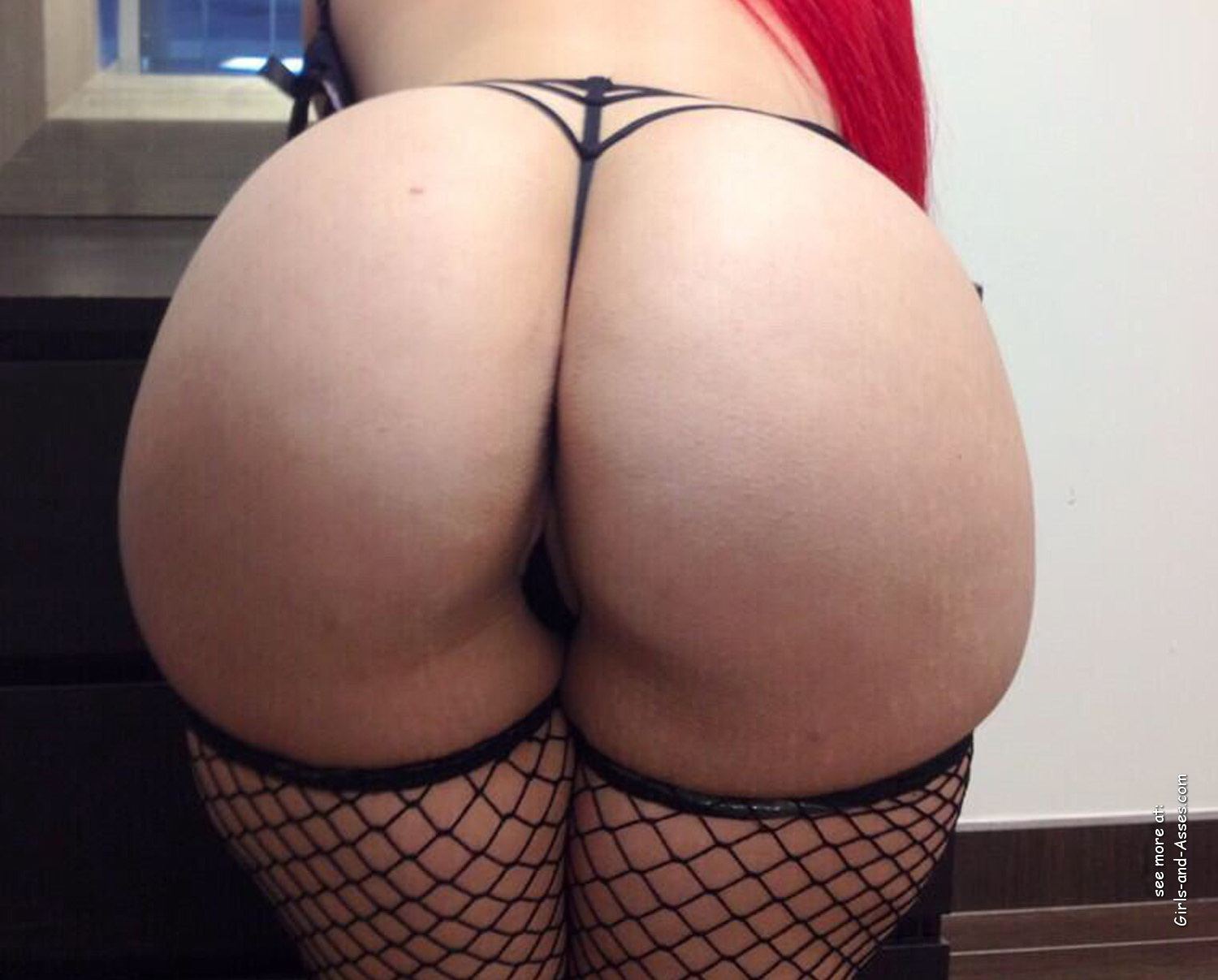 big white butt in fishnet stockings picture 00520