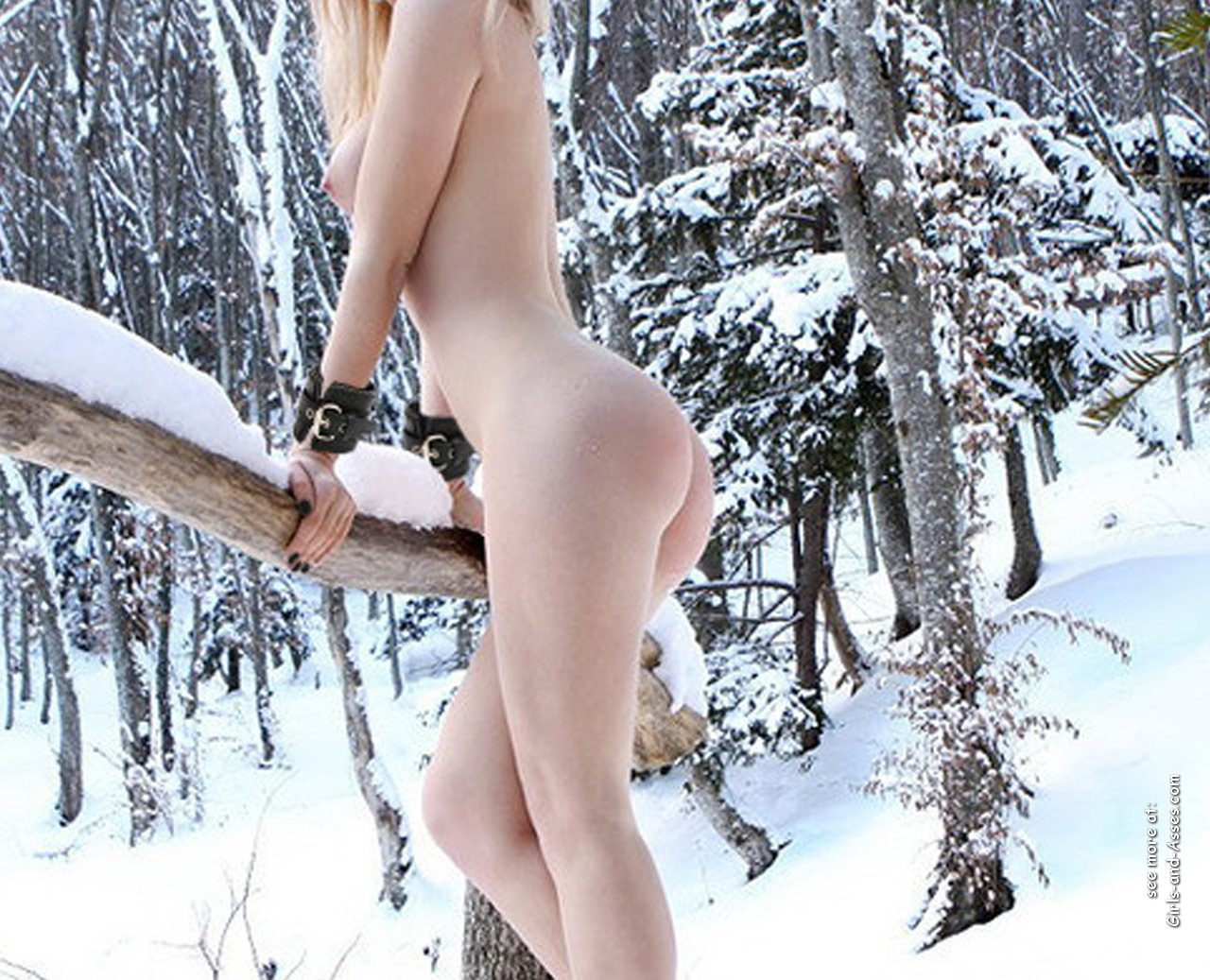 winter and snow and naked girl with petite ass picture 02400
