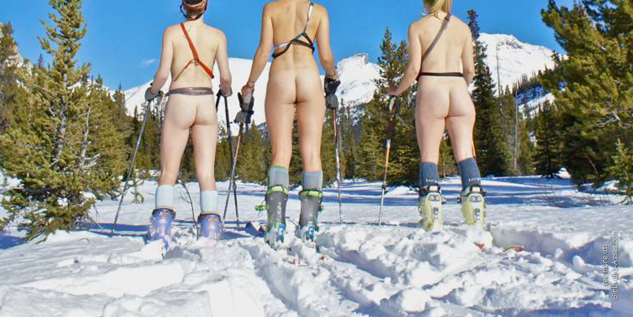 winter and snow and outdoor freezing casual naked girls 00421
