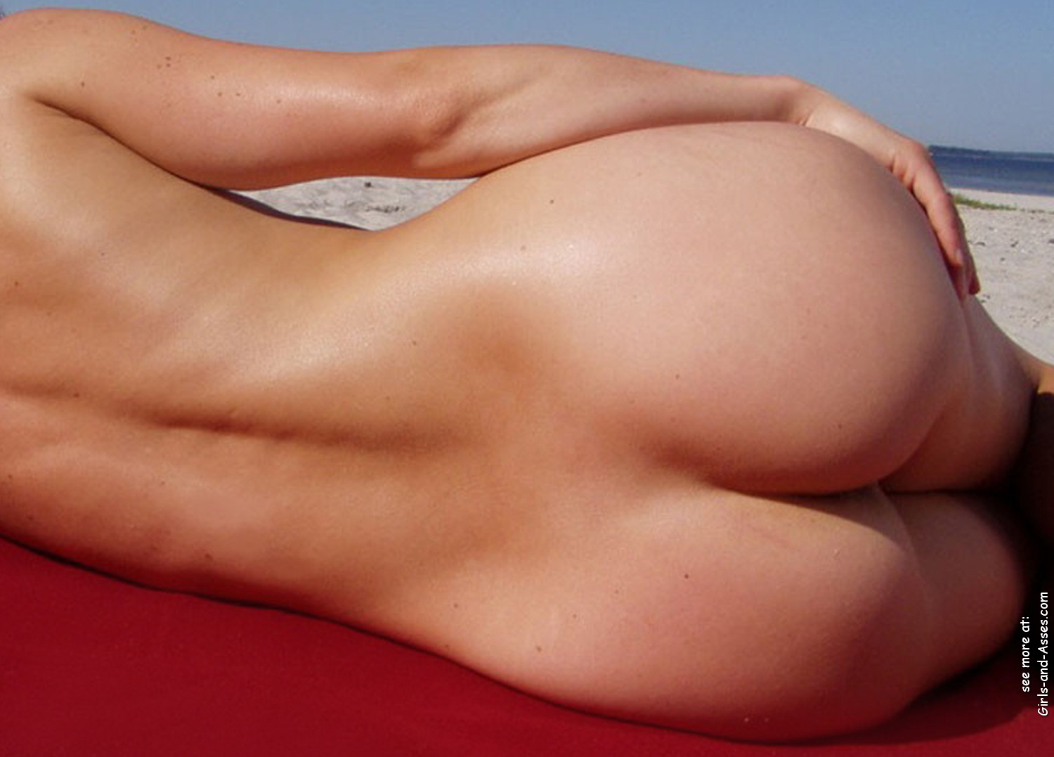 naked sunbathing tanning on the beach pic 03146