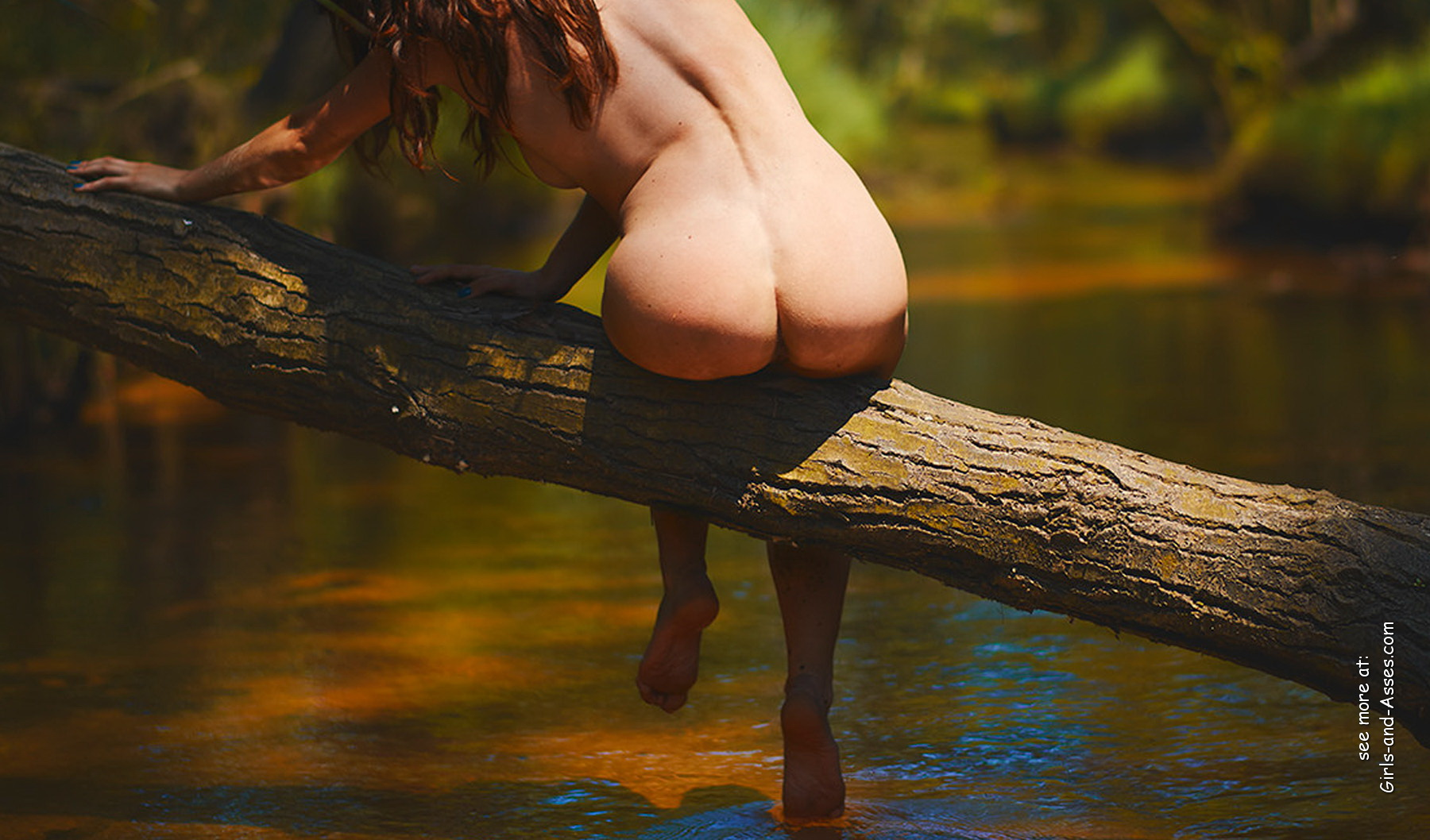 naked girl with big ass in a river picture 00530