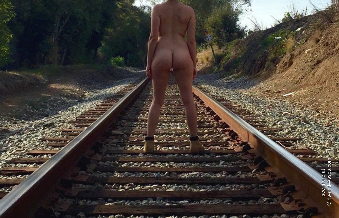 hot girl naked on the train tracks picture 00655
