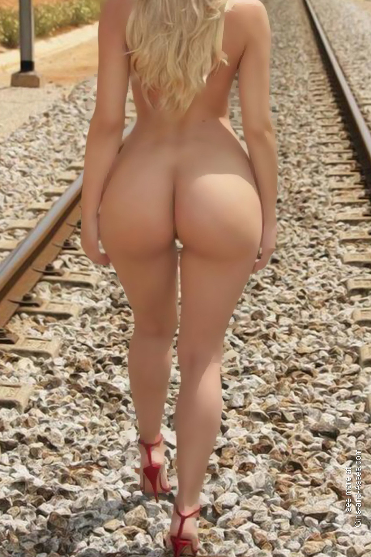 hot girl naked on the train tracks picture 00955