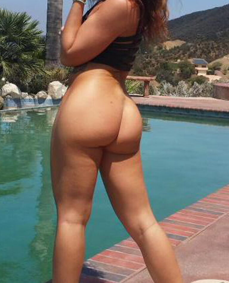 Beautiful naked ass by the pool photo 01548